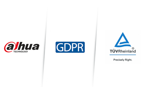 First in Global Video Surveillance Industry, Dahua IP Video Products Certified to Comply with GDPR by TÜV Rheinland