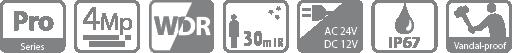 Tính năng, thông số camera HDBW2401RP-Z-DP