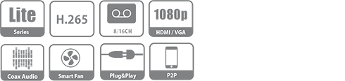 DH-XVR5116HS-X XVR видеорегистратор Dahua