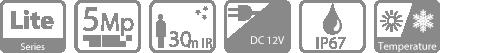 Thông số kỹ thuật camera hồng ngoại HDCVI Dahua HAC-HDW1500SP
