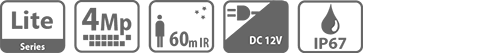 DH-HAC-HFW1400RP-Z-IRE6 HDCVI видеокамера Dahua