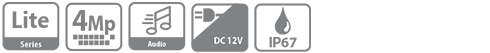 DH-HAC-HFW1409TLMP-A-LED-0360B HDCVI видеокамера Dahua