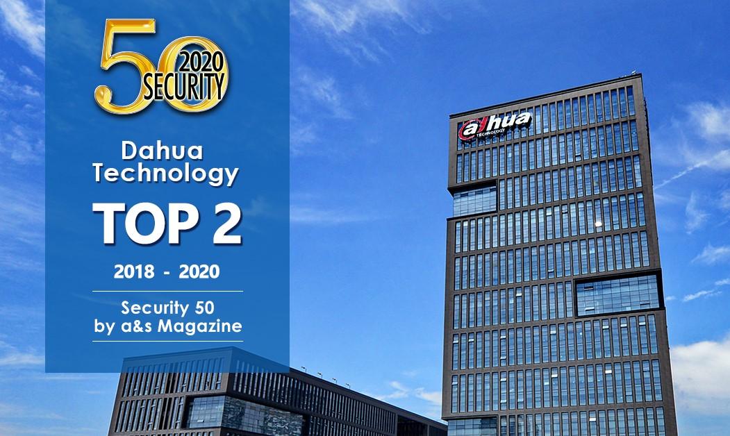 Das dritte Jahr in Folge: Dahua Technology behauptet den 2. Platz im Security 50 Ranking von a&s