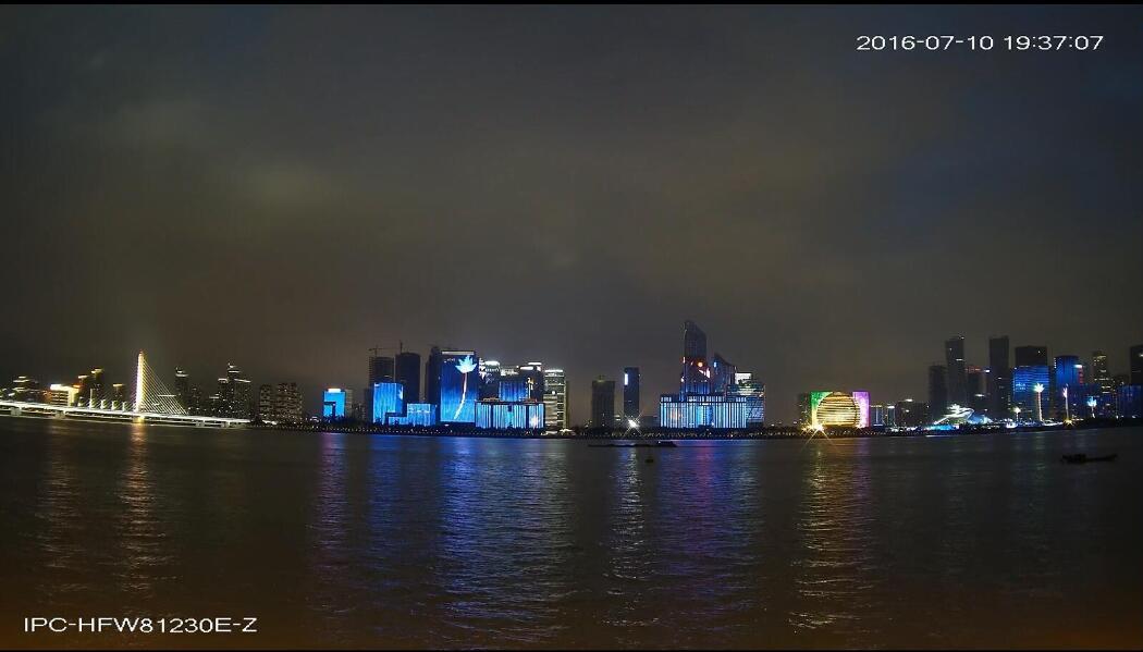 Beautiful night scene by DAHUA 4K Camera