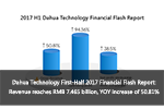 Dahua Technology First-Half 2017 Financial Flash Report: Revenue reaches RMB 7.465 billion, year-on-year increase of 50.81%