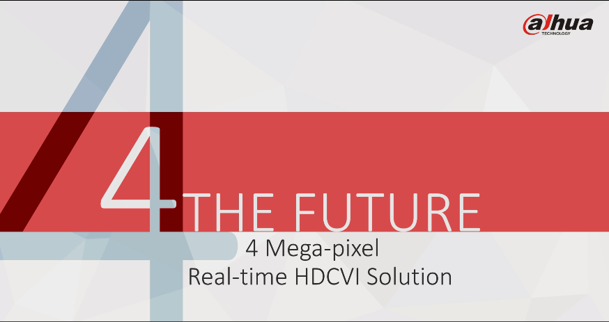 Dahua HDCVI 4MP Solution Product Release