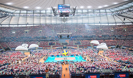Dahua Technology Customers to watch CEV Volleyball Game