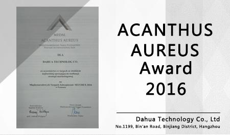 ACANTHUS AUREUS Award 2016