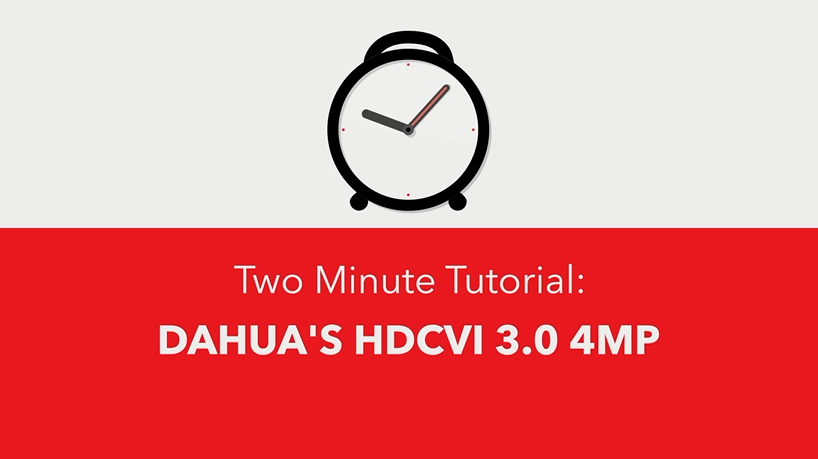 Dahua's HDCVI 3.0 4MP