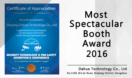 Most Spectacular Booth Award 2016