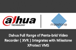 Dahua Full Range of Penta-brid Video Recorder(XVR)Integrates with Milestone XProtect VMS