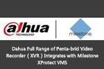 Dahua Full Range of Penta-brid Video Recorder(XVR)Integrates with Milestone XProtect VMS